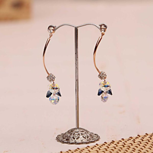 Elegant Swarovski LongStone Drop Earrings