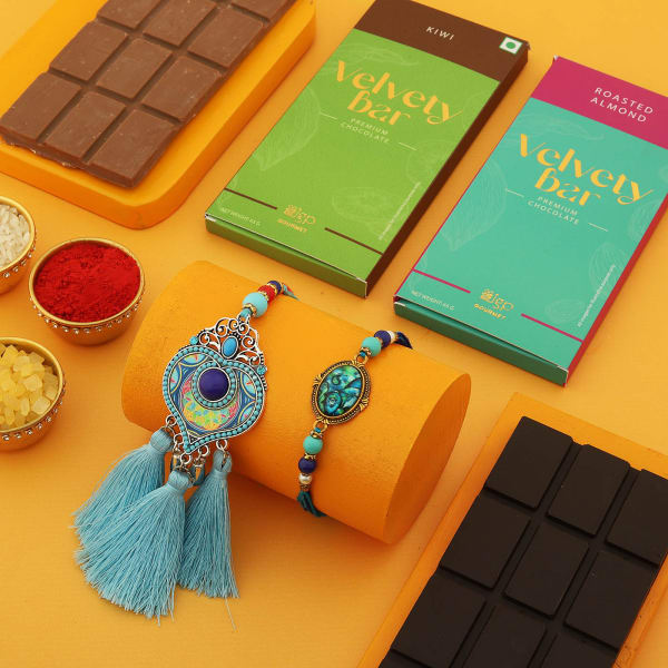 Evil Eye Bhaiya Bhabhi Rakhi With Chocolates