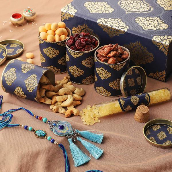 Evil Eye Bhaiya Bhabhi Rakhi With Premium Gift Box