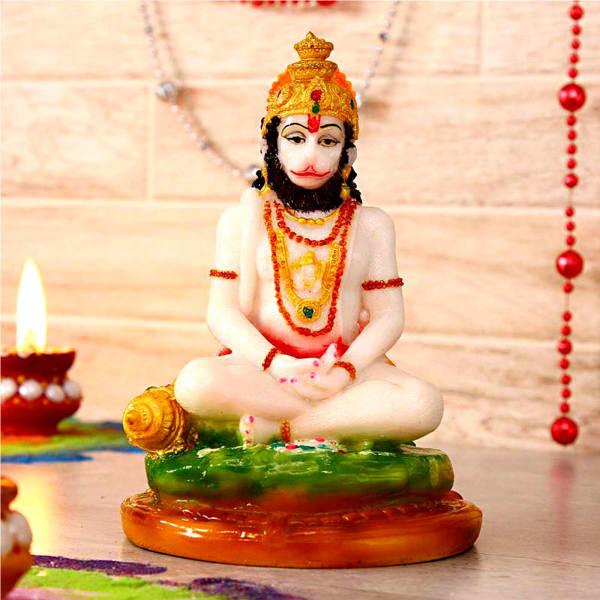 Exclusive Lord Hanuman Fiber Idol: Gift/Send Home and Living