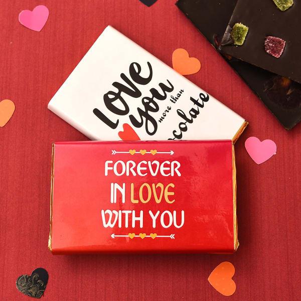 Express Love with Gems & Mint Dark Chocolate Bar Combo