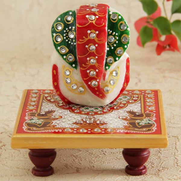 Exquisite Marble Ganesha Idol