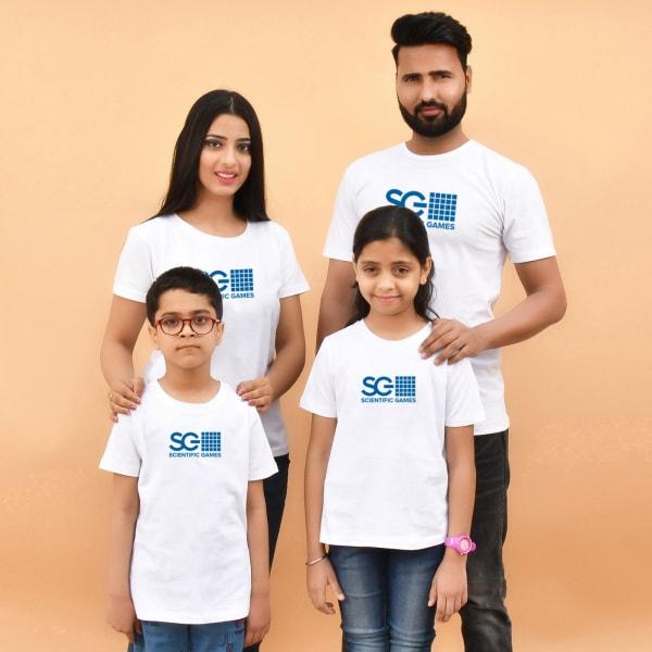 Family White T-Shirts (Set of 4)