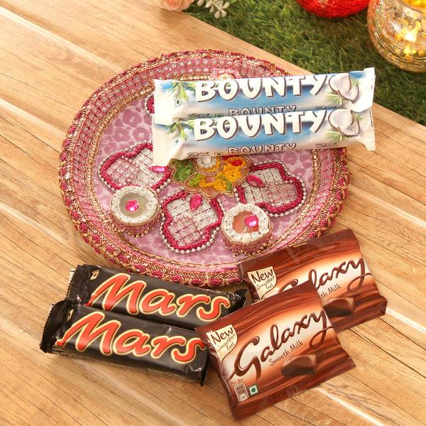 Fancy Tikka Thali with Chocolates