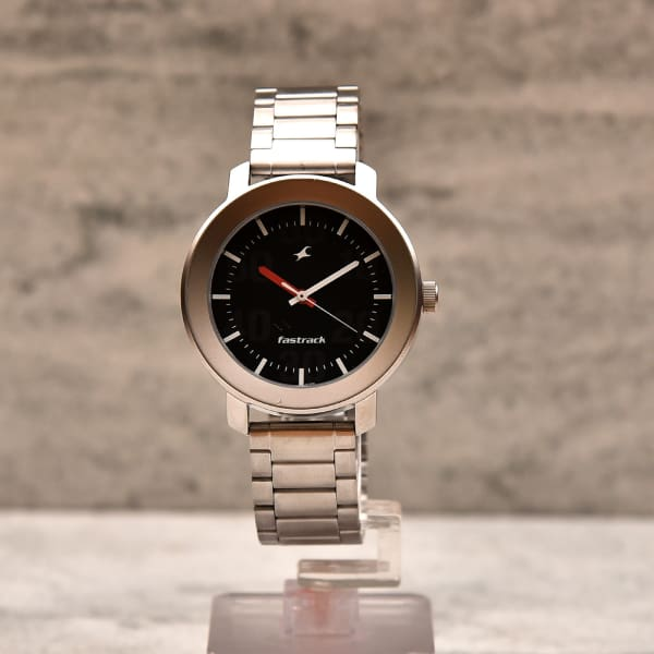 Fastrack Round Black Dial Watch