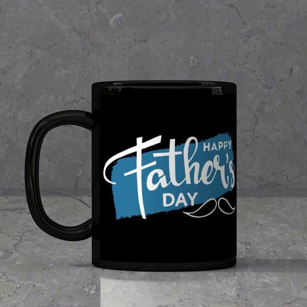 Father's Day Black Mug