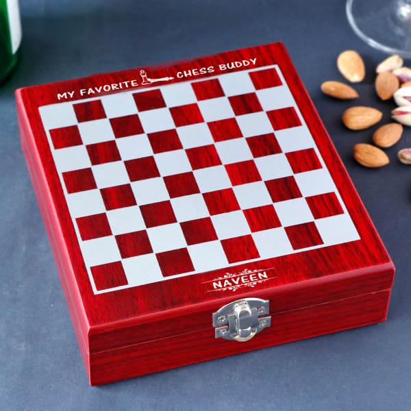 Favourite Buddy Personalized Chess Board Wine Kit