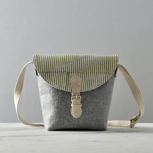Felt and Cotton Sling Bag