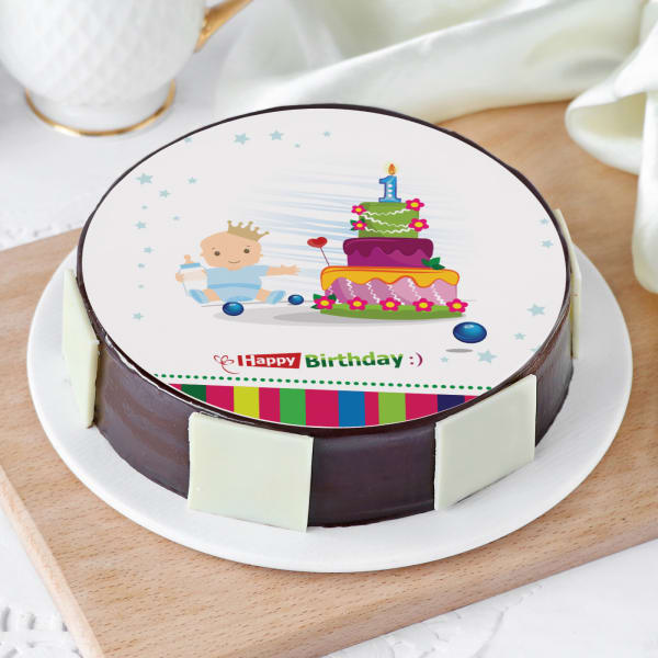 Order First Birthday Cake For Boy Half Kg Online At Best Price Free Delivery Igp Cakes