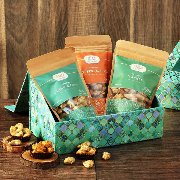 Flavored Cashews in Gift Box