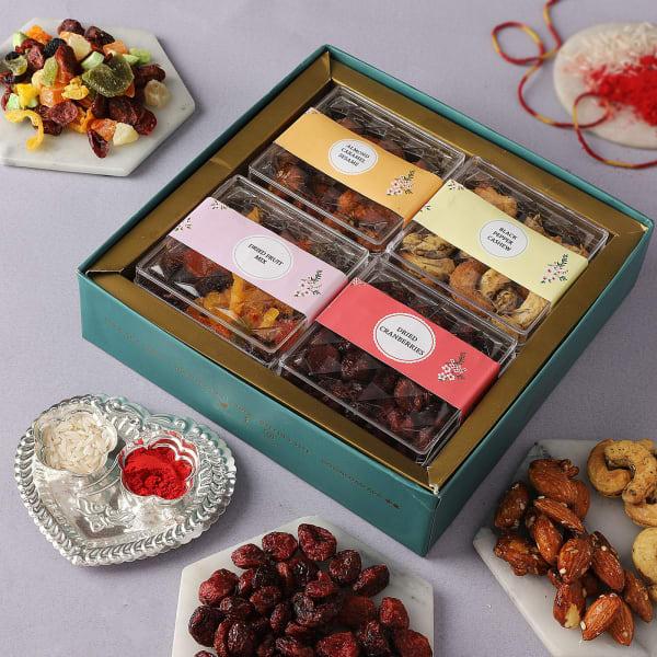 Flavoured Dry Fruits Bhai Dooj Gift Tray