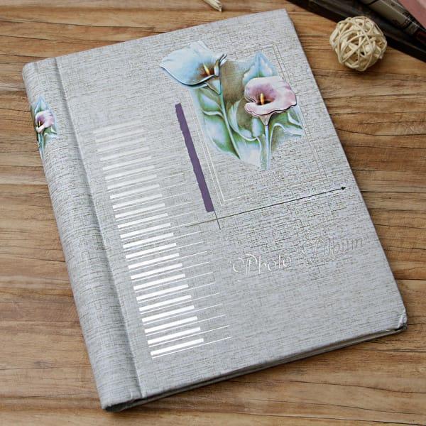 Floral Designed Personalized Photo Album