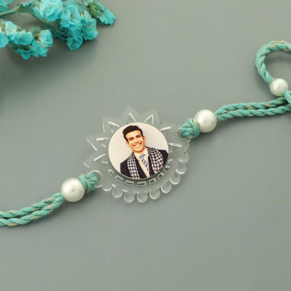 Floral Personalized Rakhi (Clear)