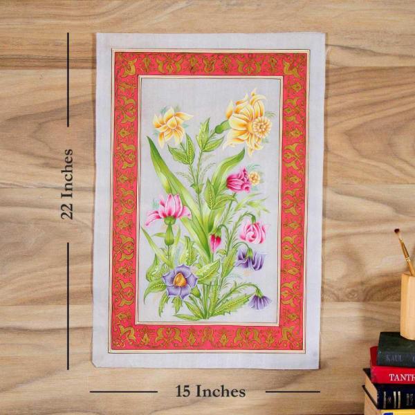 Flowery Bliss Silk Painting