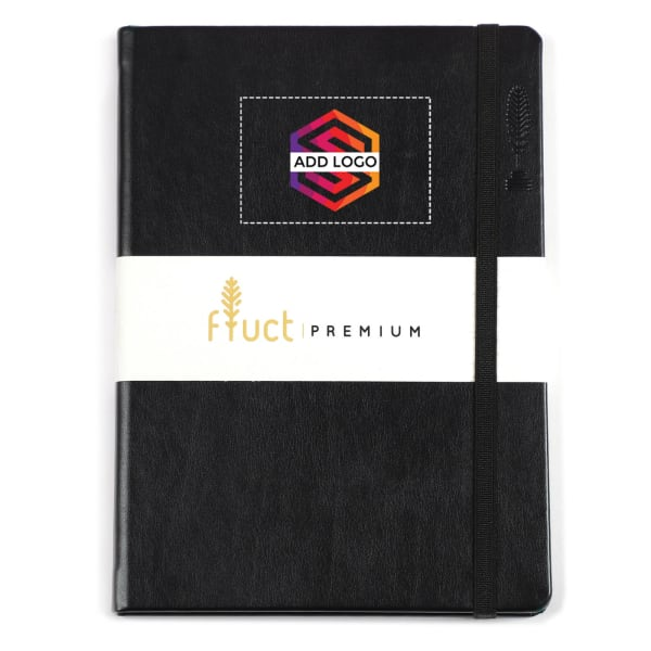Fluct A5 Black Premium Diary - Customized with Logo