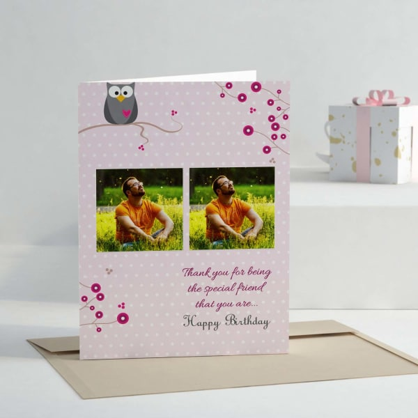For The Special Friend Personalized Birthday Greeting Card