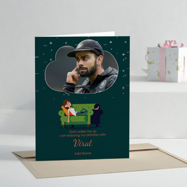 For The Virat Fan Personalized Birthday Greeting Card