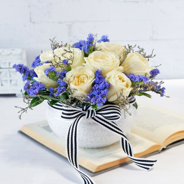 Forever Flowers in Ceramic Vase