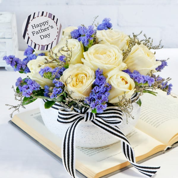 Forever Flowers in Vase for Father's Day