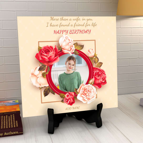 Found A Friend In You Personalized Birthday Tile