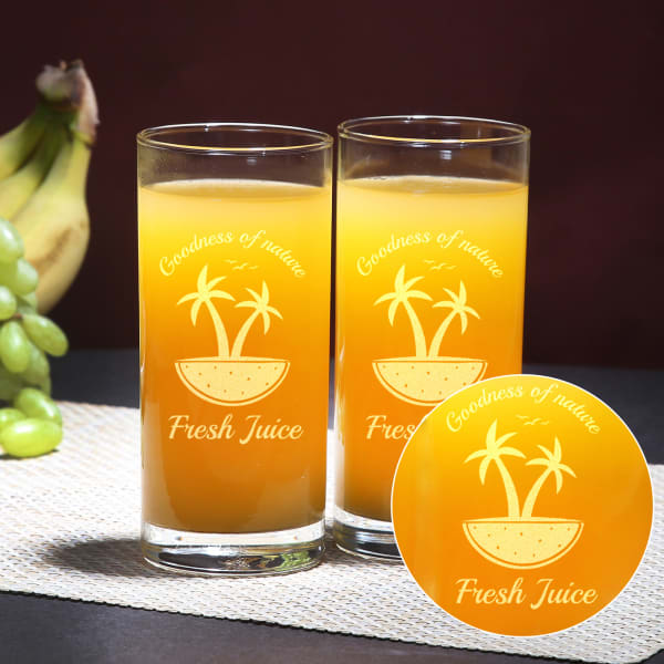 Fresh Juice Glass Set of Two