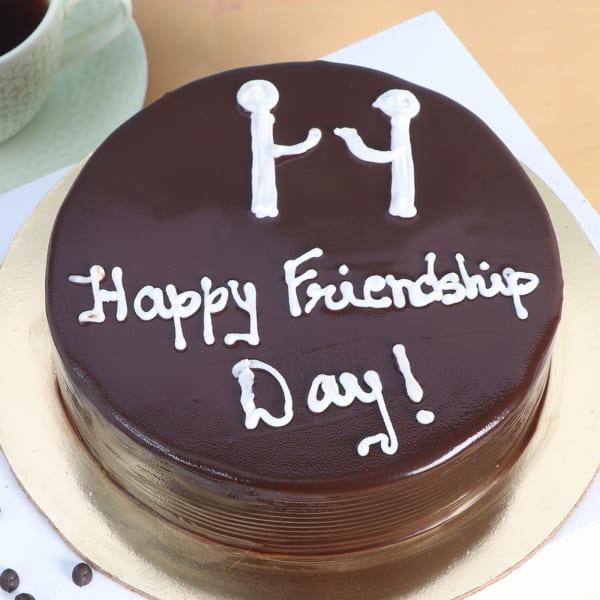 Friendship Day Chocolate Truffle Cake (Half kg)