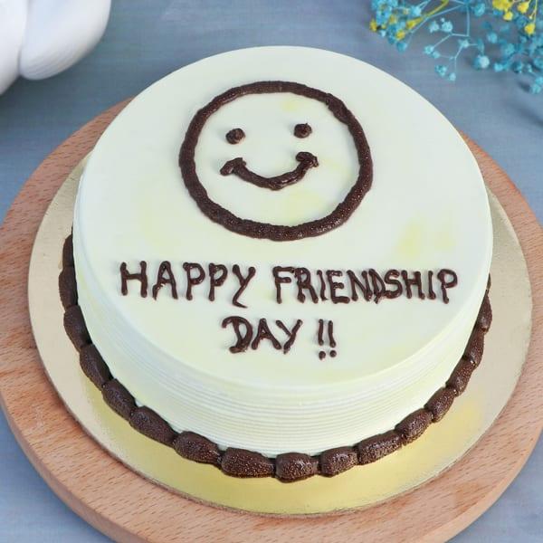 Friendship Day Fresh Cream Cake (Half kg)
