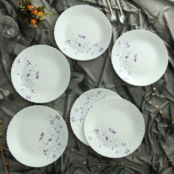 Full Plates with Botanical Design (Set of 6)