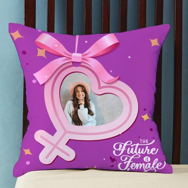 Future is Female Personalized Cushion