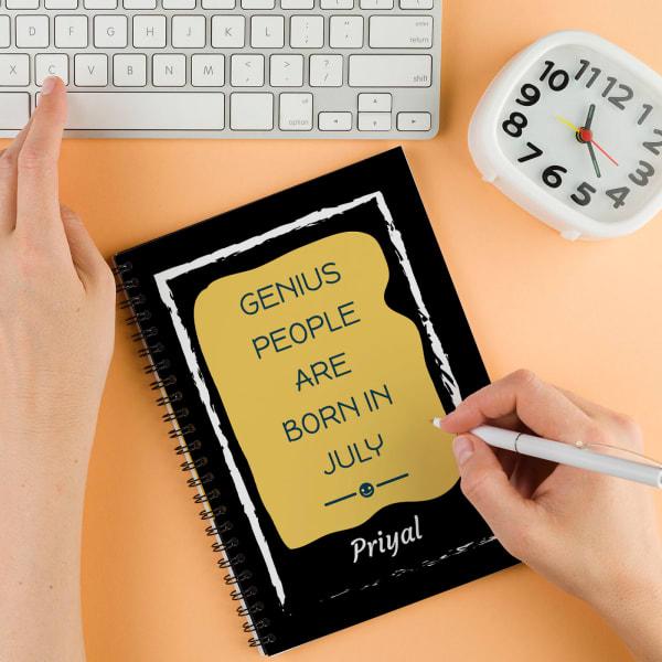Genius Personalized Birthday Notebook