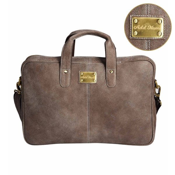 Genuine Leather Personalized Laptop Bag
