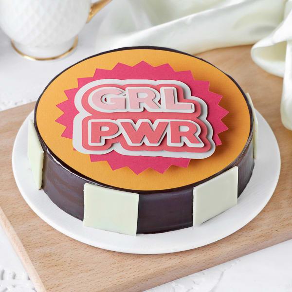 Girl Power Photo Cake (Half Kg)