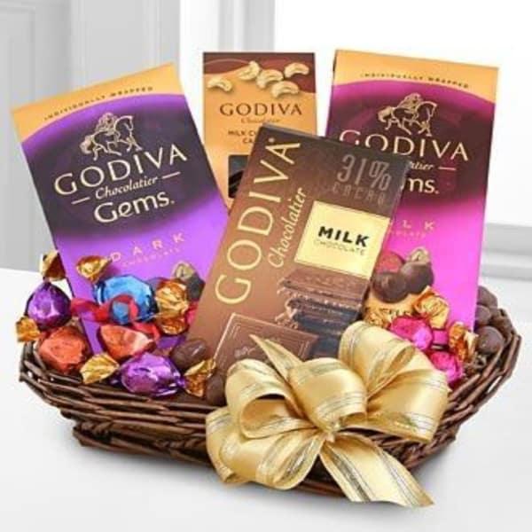 Godiva Gourmet Sampler Basket