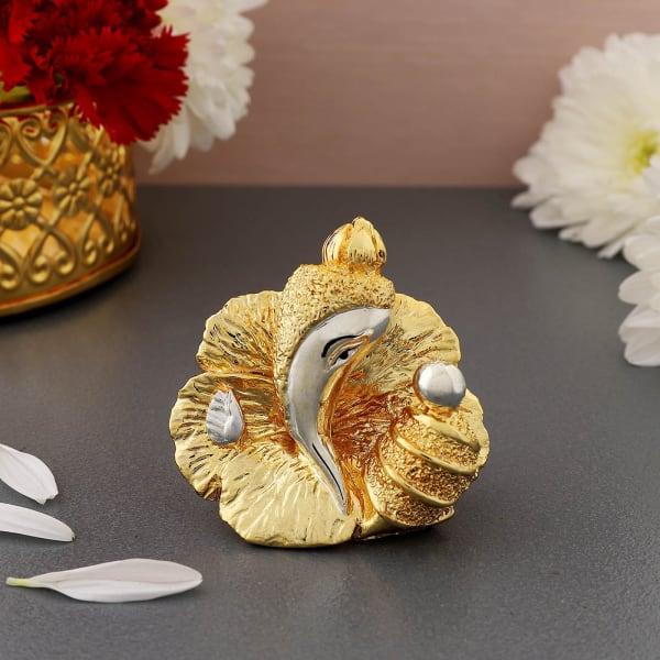 Gold And Silver Plated Ganesha Idol