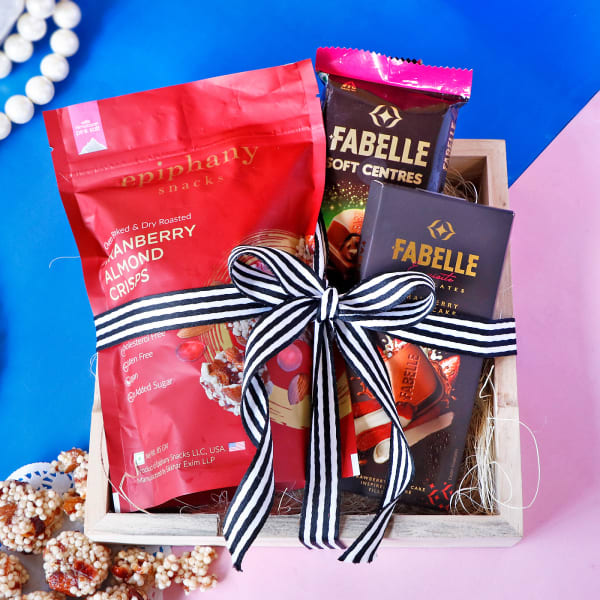 Gourmet Chocolate Hamper Jute Wrapped in Tray