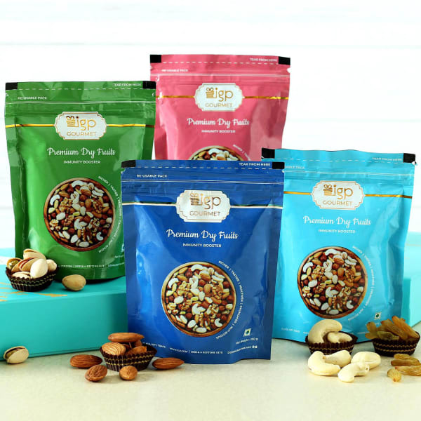 Gourmet Dry Fruit Packets - Set of 4