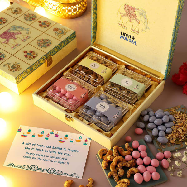 Gourmet Goodies In Traditional Art Gift Box