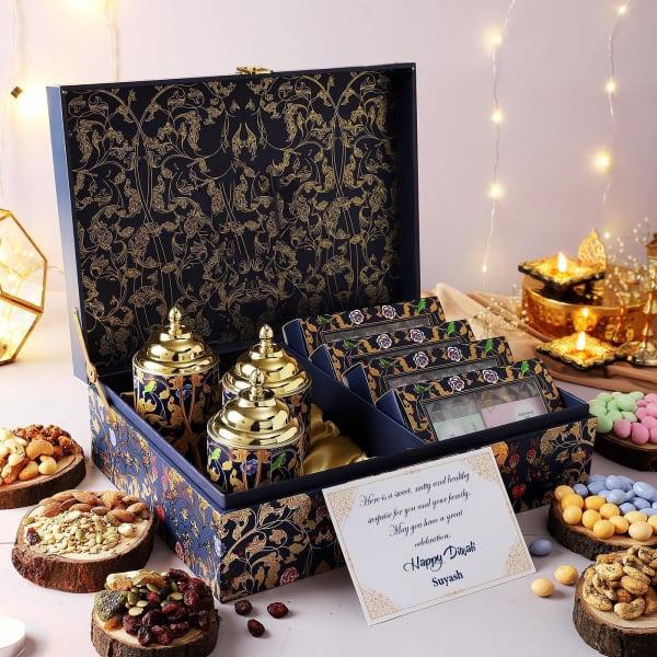 Gourmet Snacks And Treats Personalized Diwali Hamper
