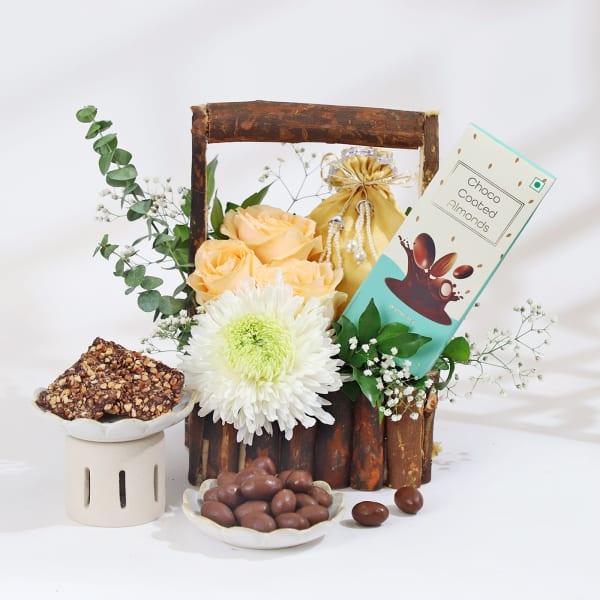 Gourmet Treats in Gift Basket Hamper