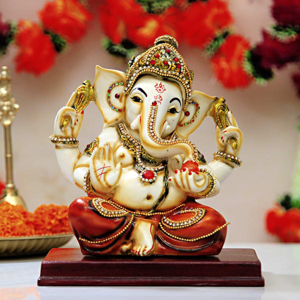 Quirky Gifts Happy Home Decor Now Online In India: Graceful Lord Ganesha Idol: Gift/Send Home And Living