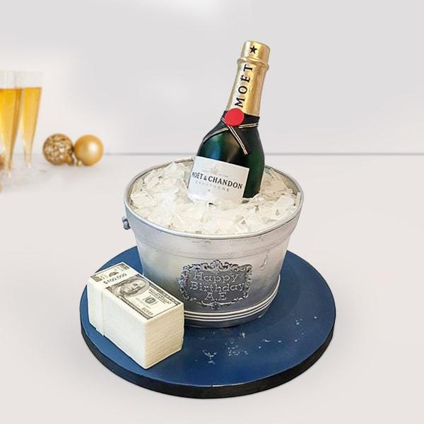 Grandiose Champagne Fondant Cake (5 Kg)