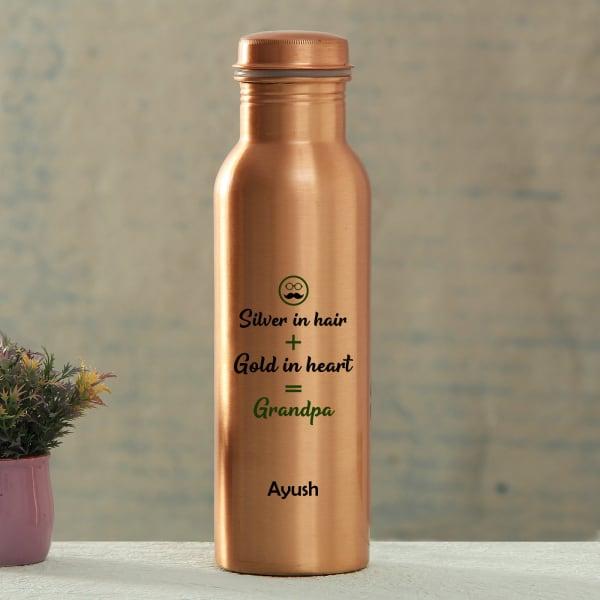 Grandpa's Personalized Copper Water Bottle