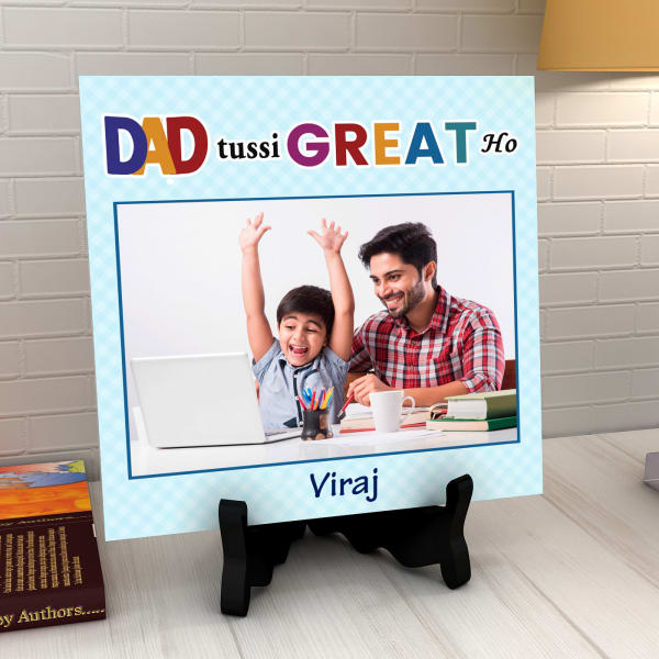 Great Dad Personalized Tile