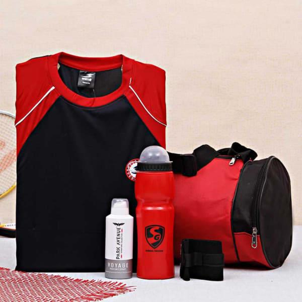 Gym Gear Hamper With Park Avenue Body Spray