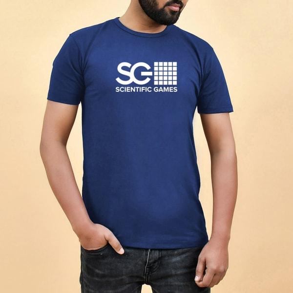 Half Sleeve Men's T-Shirt - Navy Blue