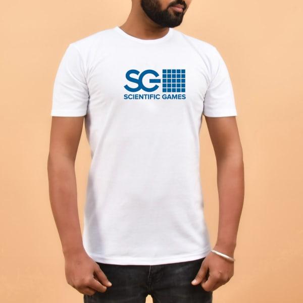 Half Sleeve Men's T-Shirt - White