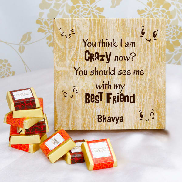 Handmade Chocolates in Personalize Wooden Gift Box