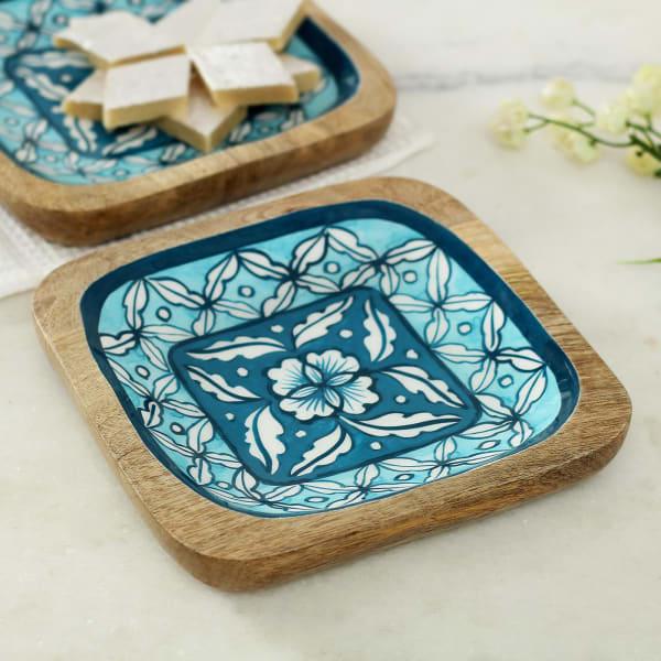 Handmade Square Shaped Wooden Platter
