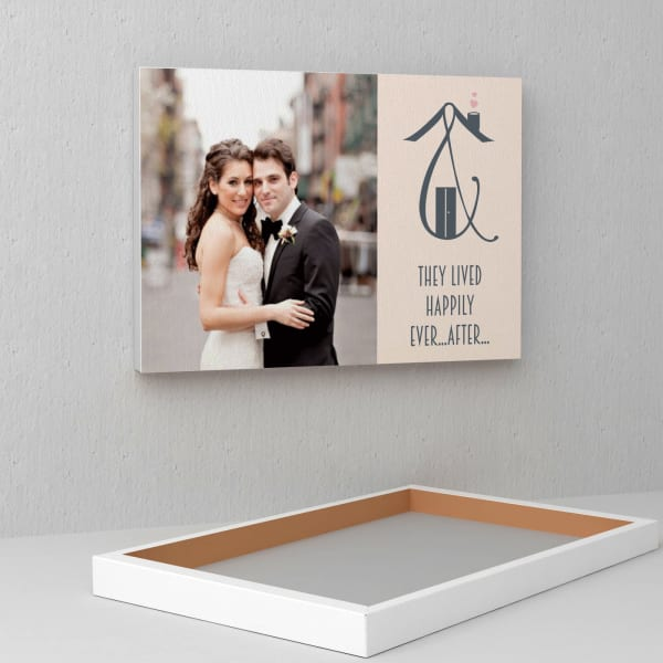 Happily Ever After Personalized Wedding Canvas