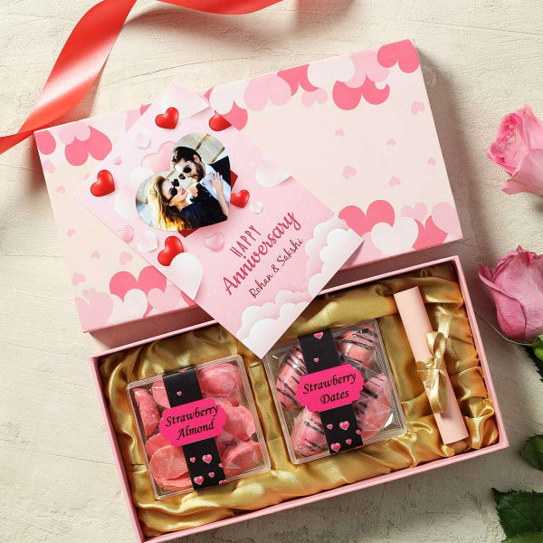 Happy Anniversary Flavored Dry Fruits Gift Box